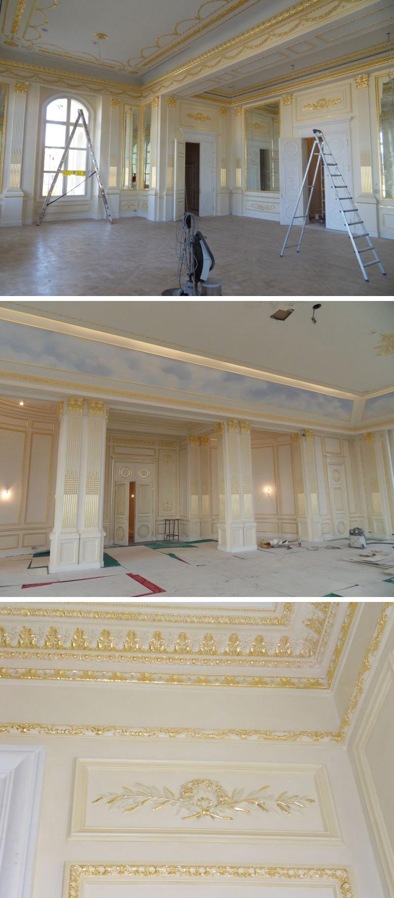 Restauration ganzer Räume und aller Einrichtungsgegenstände