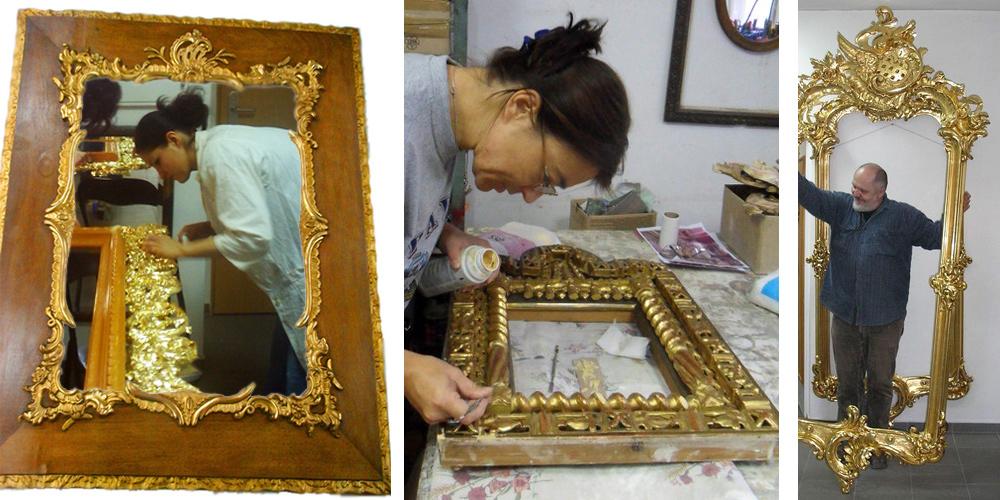 Restauration klassischer Rahmen und Vergolderarbeiten